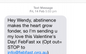 SMS from heart smaller